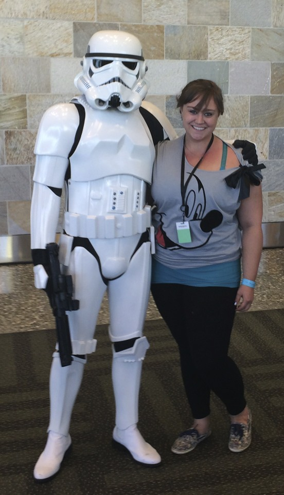 Met a Storm Trooper the day Dave Filoni talked about Star Wars!