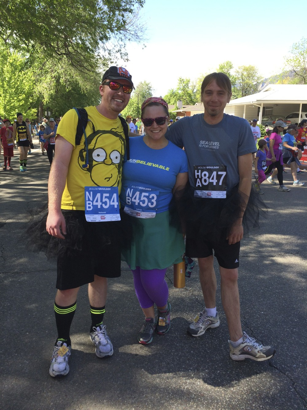BB10k 2014 with my guy (left) and our friend Nate (right)