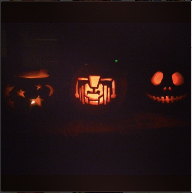 Night sky, a Cyberman, and Jack Skellington