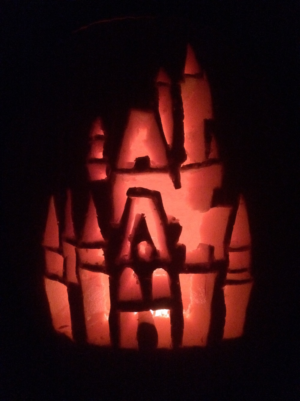 This year's pumpkin! Cinderella's Castle :)