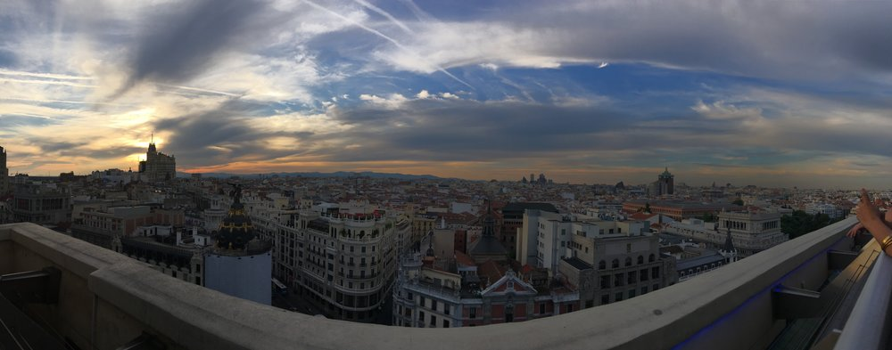 Sunset at Bellas Artes