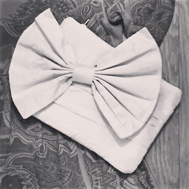 DIY Disneybound Accessory - A satin clutch I made for my wedding (matches the bodice of my wedding dress) - it is a great compliment to many different Disneybounds!