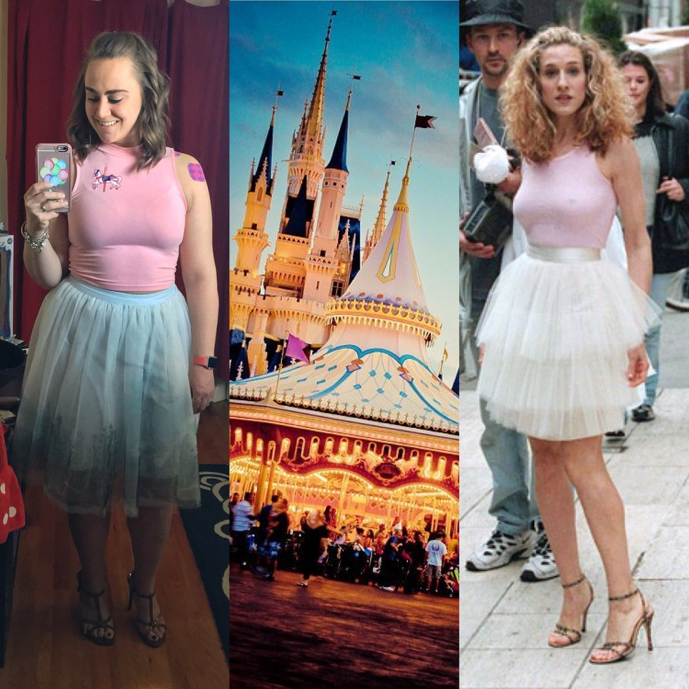 Vintage Inspiration - The carousel in Disney World mashed up with Carrie Bradshaw