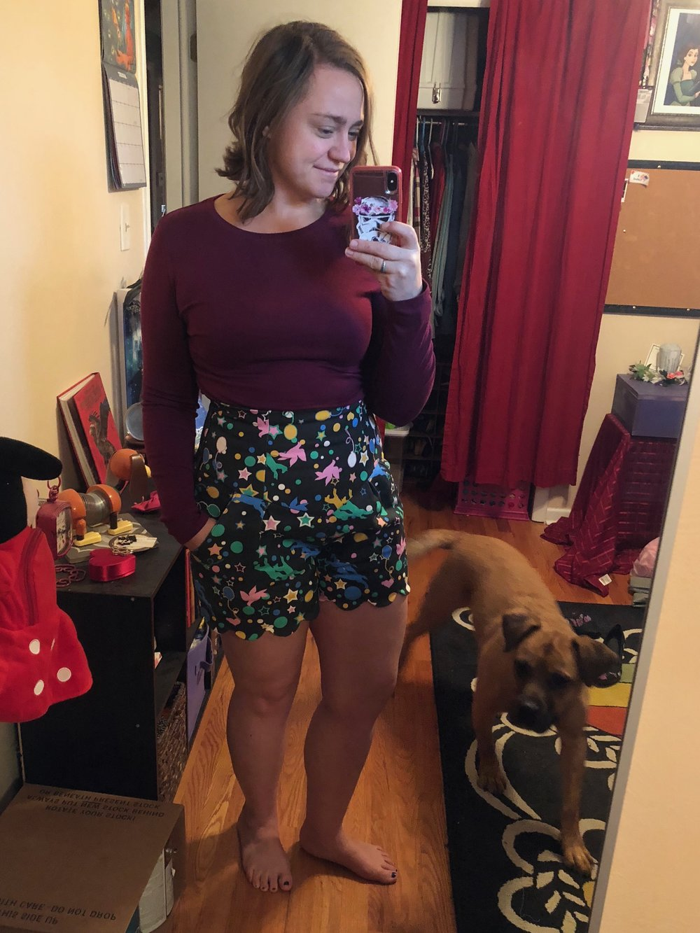 That SUPER high waist - featuring Rosco, the photobomber