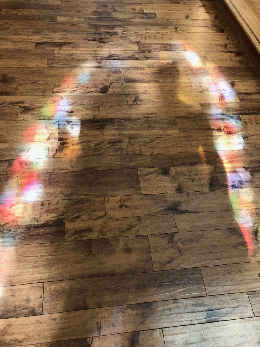 Stained Glass shadows in the Basilica