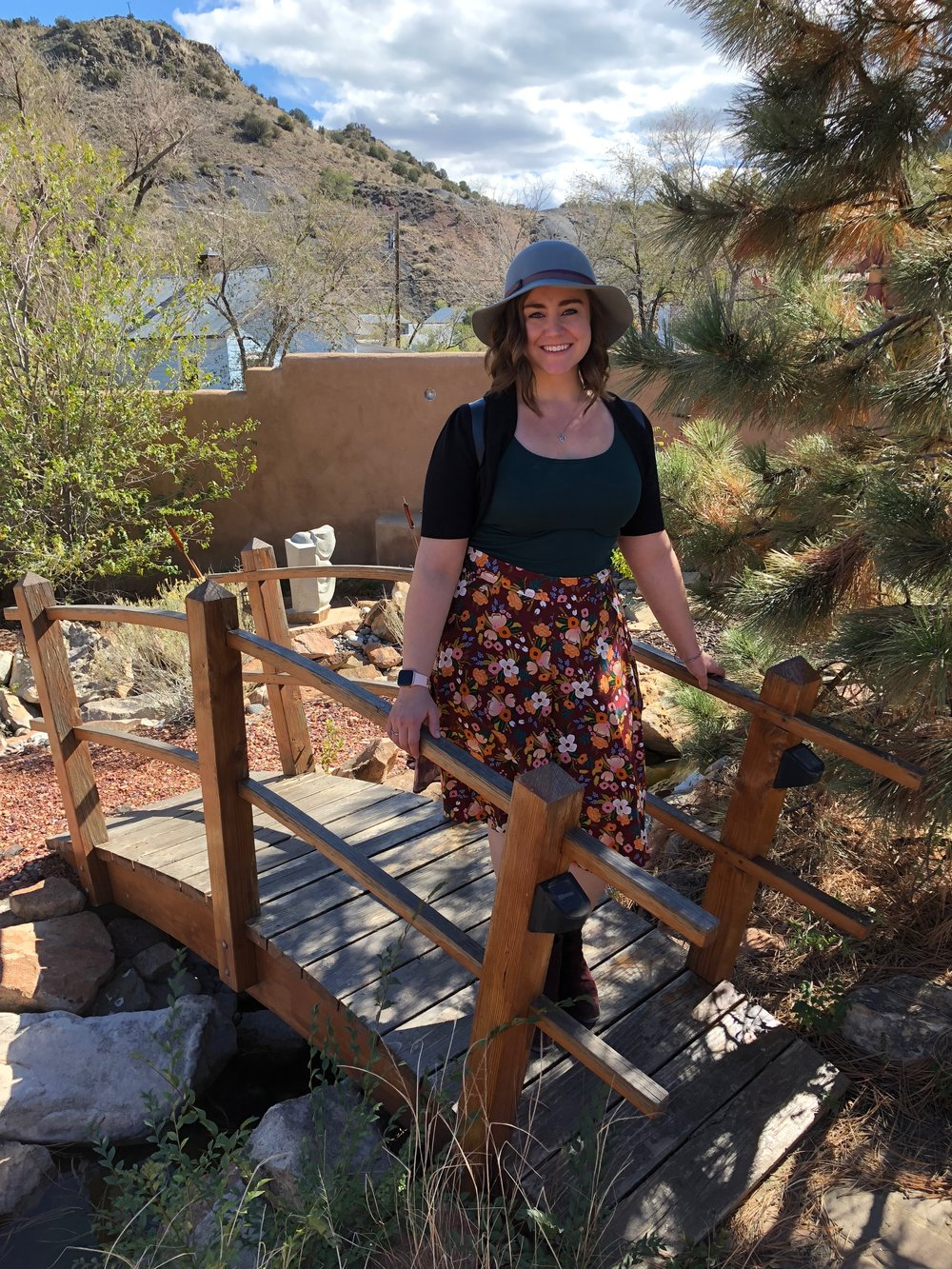 Wandering in Madrid, NM, wearing the  culottes  I made recently! I made it a point to pack several handmade items - and I got compliments on all of them!