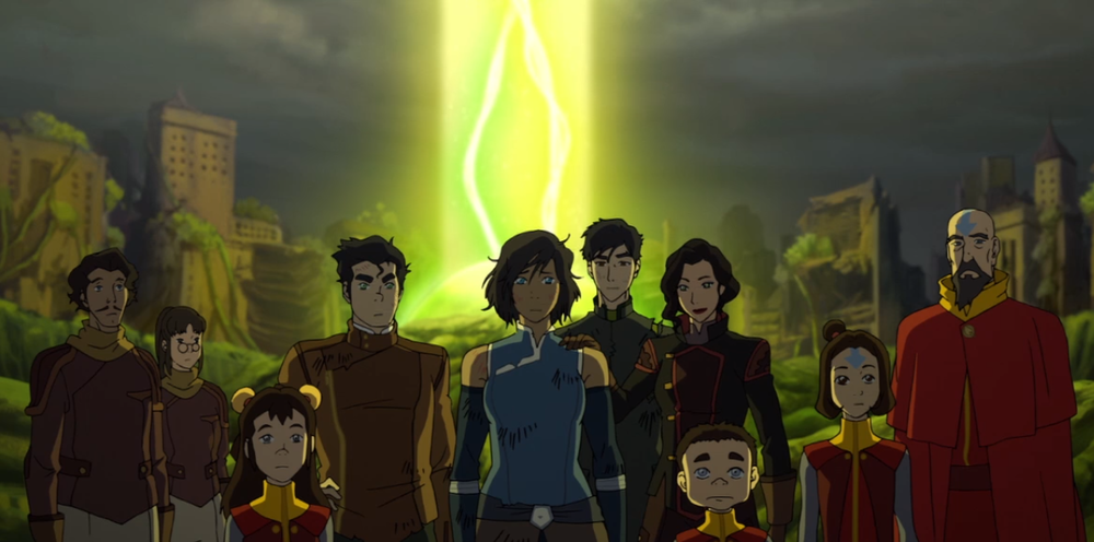Team Avatar, minus Lin and Su.