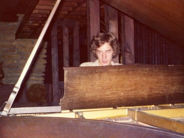 Tobin at the piano at 17.