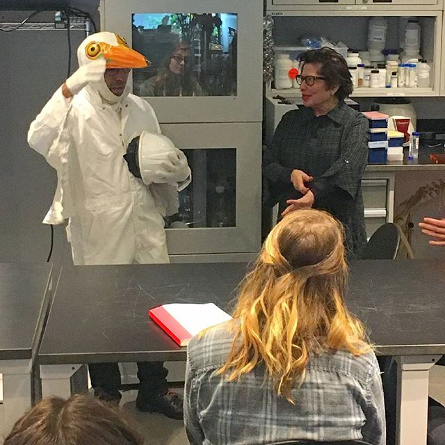 The English Kills Project at Suzanne Anker's Bio-Art class at SVA. #environmental #nature #bio-remediation #Bushwick #svafinearts #greategret #mussels