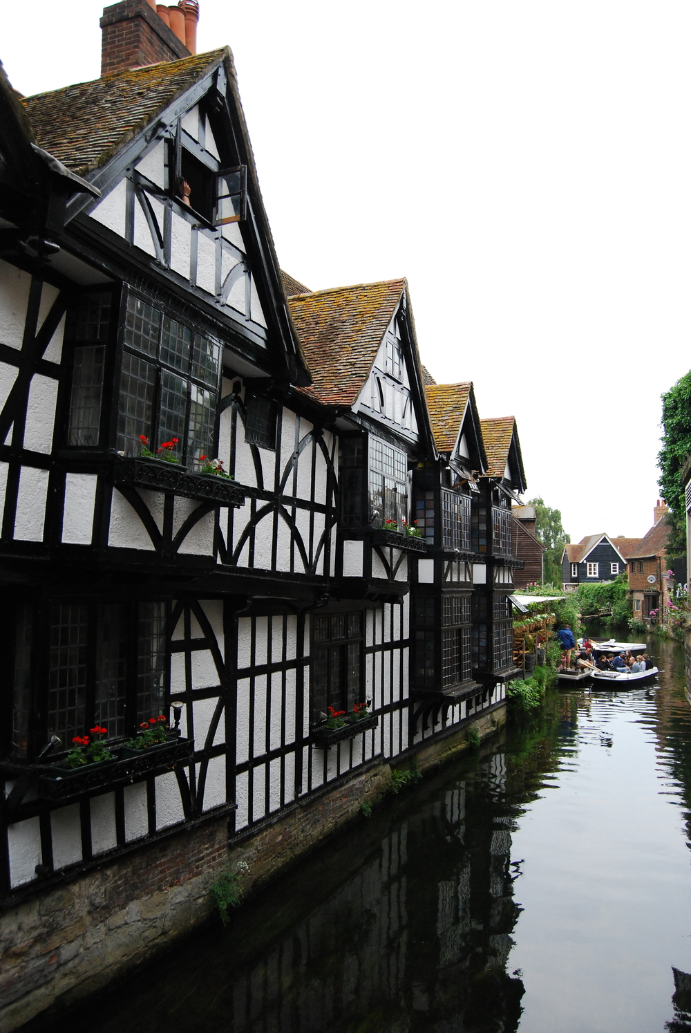 View of river Stour in Canterbury.