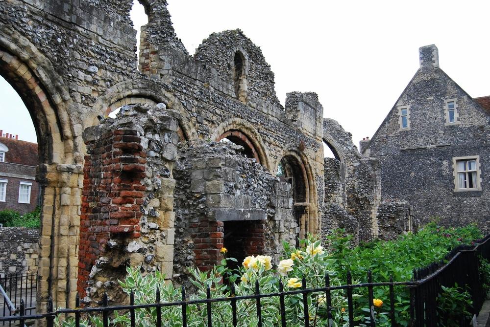 Beautiful ruins in Canterbury.