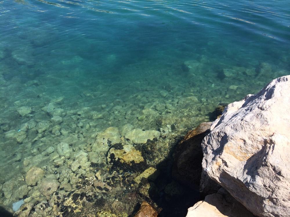 The clear water in Sperlonga, Italy.  Www.ohmightycoffee.com