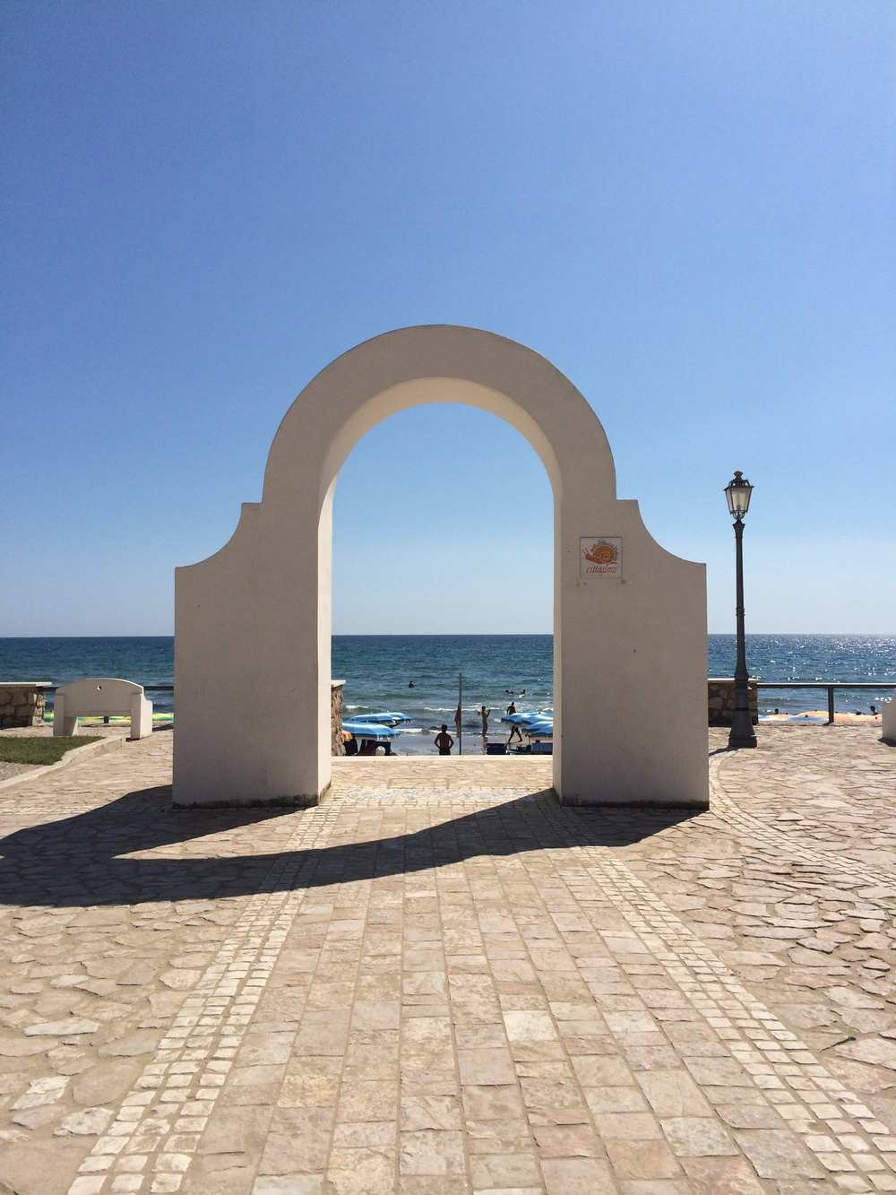 The gate to heaven! Sperlonga Beach, Italy.  www.ohmightycoffee.com