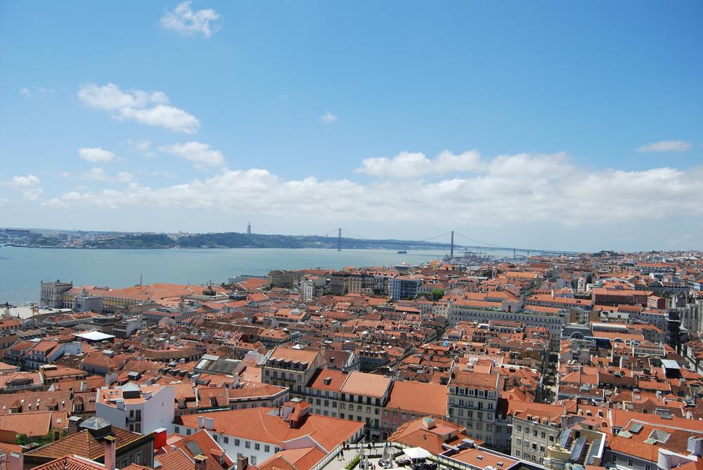 View from Castle Sao Jorge, Lisbon  www.ohmightycoffee.com
