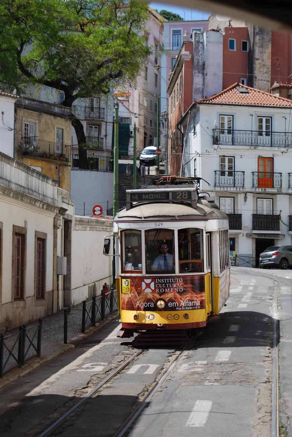 View from Tram 28, Lisbon  www.ohmightycoffee.com