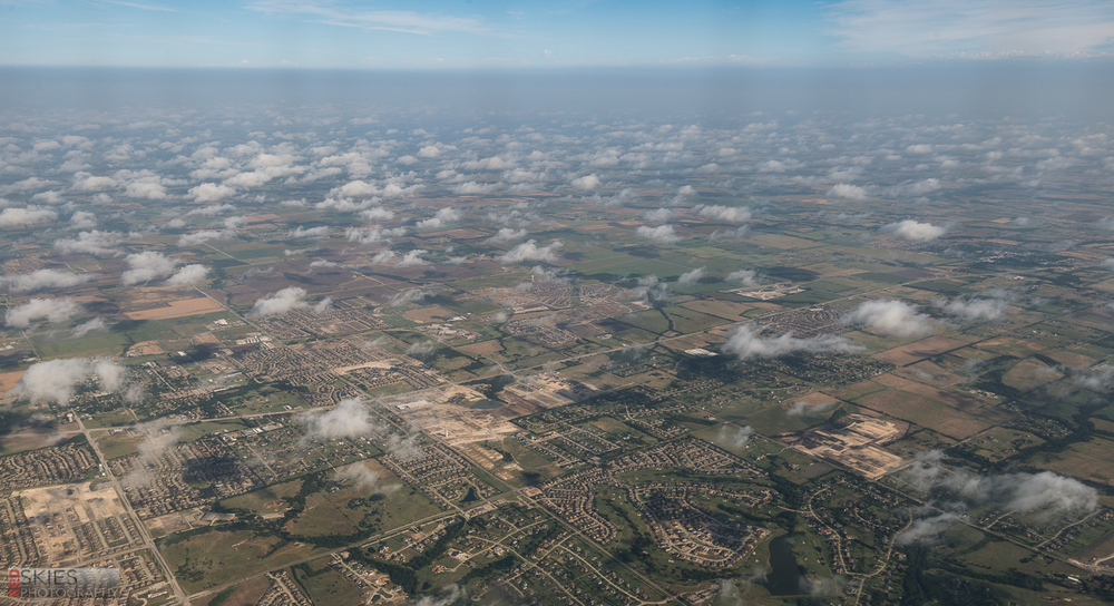 And the fascinatingly neat and organized suburbia we passed over when landing in Dallas.