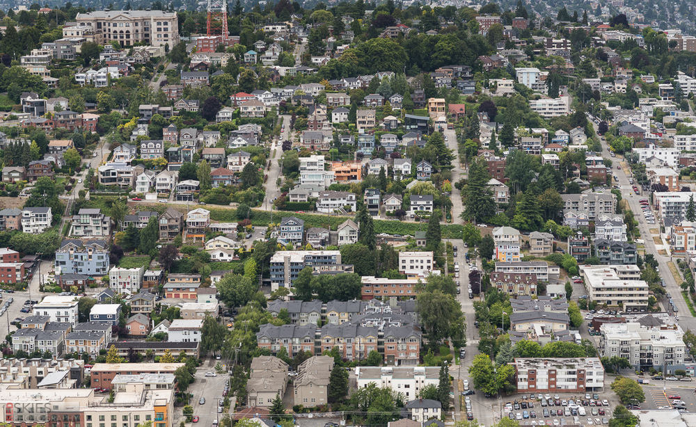 And these organized rows of houses when you look in the opposite direction.