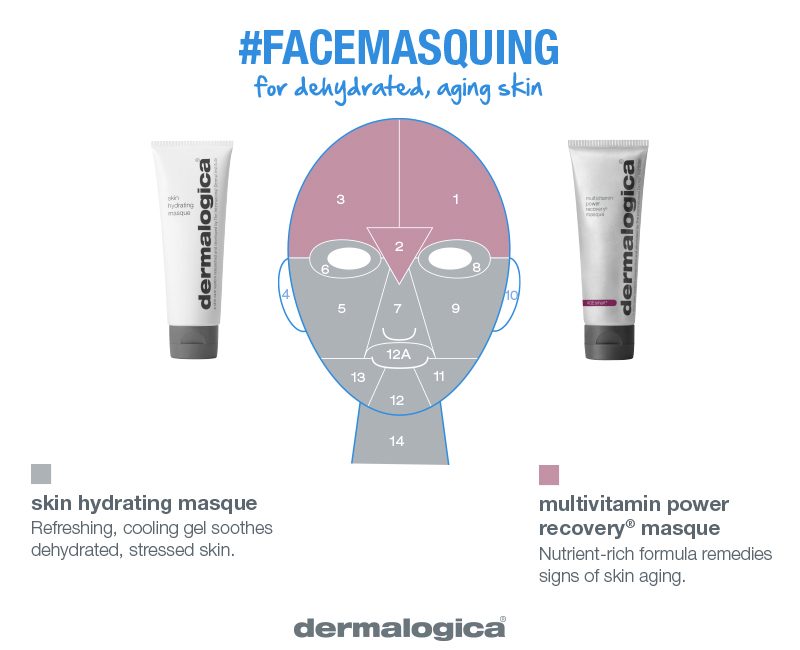 dehydrated and aging skin masque combo    hydrate, replenish, rescue    Dehydrated and aging skin? With Cucumber and Hyaluronic acid, Skin Hydrating Masque will replenish typically dehydrated areas. Apply MultiVitamin Power Recovery Masque to plump up fine lines and address visible signs of skin aging.