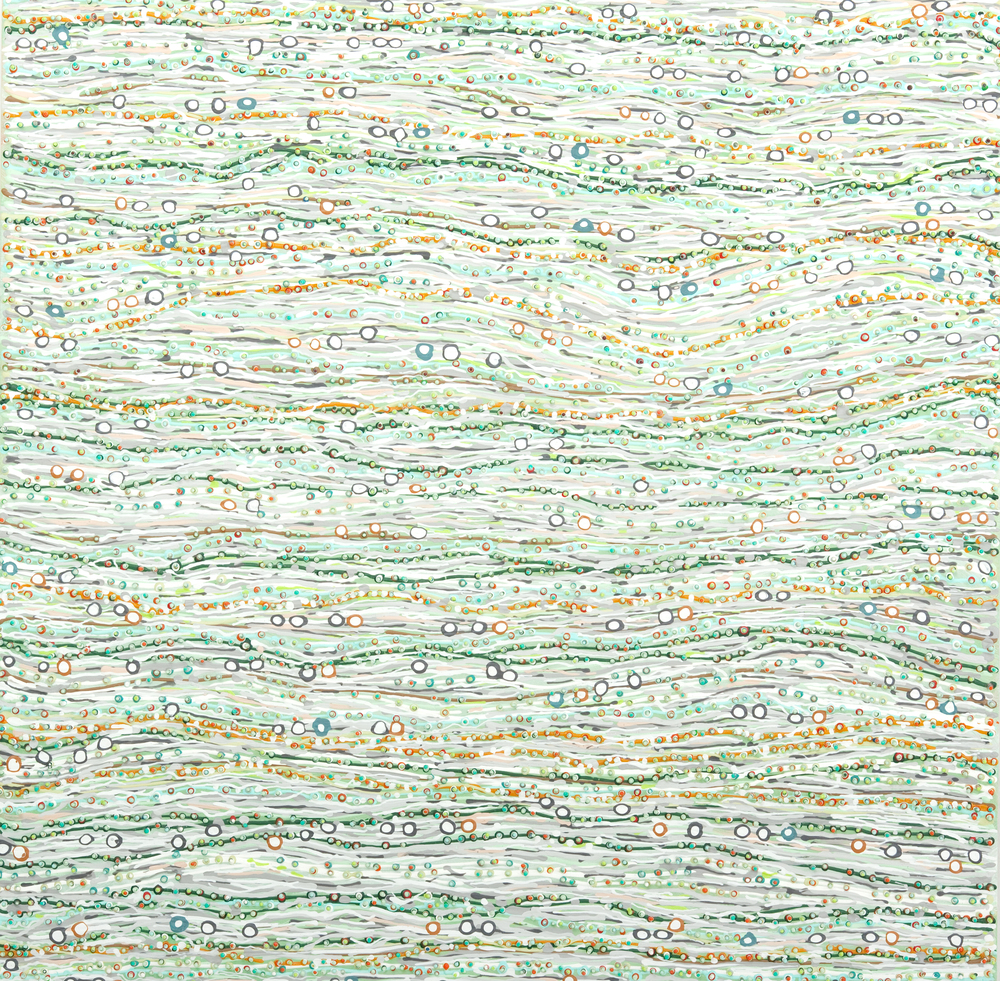 "Charlotte Smith, ""Wavelation II"", 2006, Acrylic on Wood Panel"