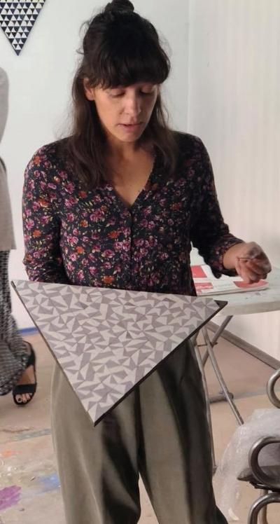 Sandra Slim in her studio