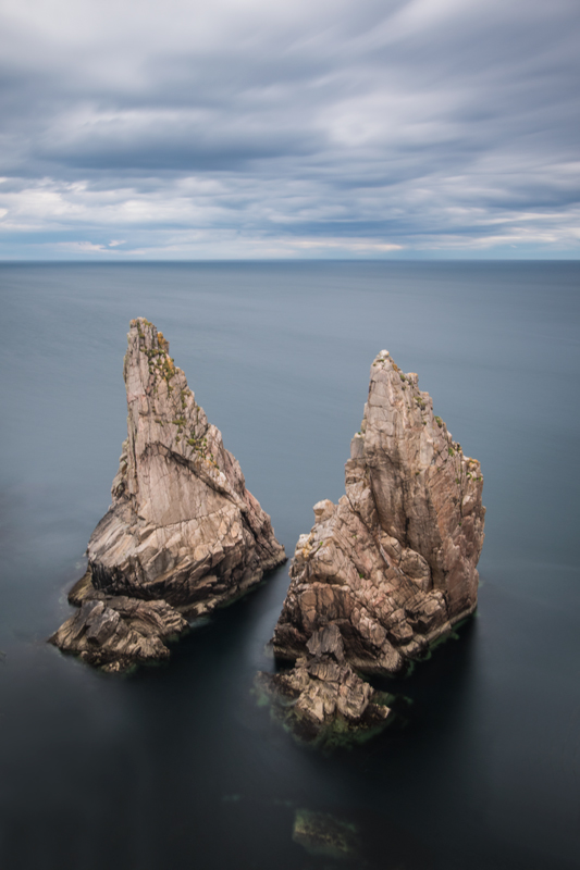 Tory twin sea stacks