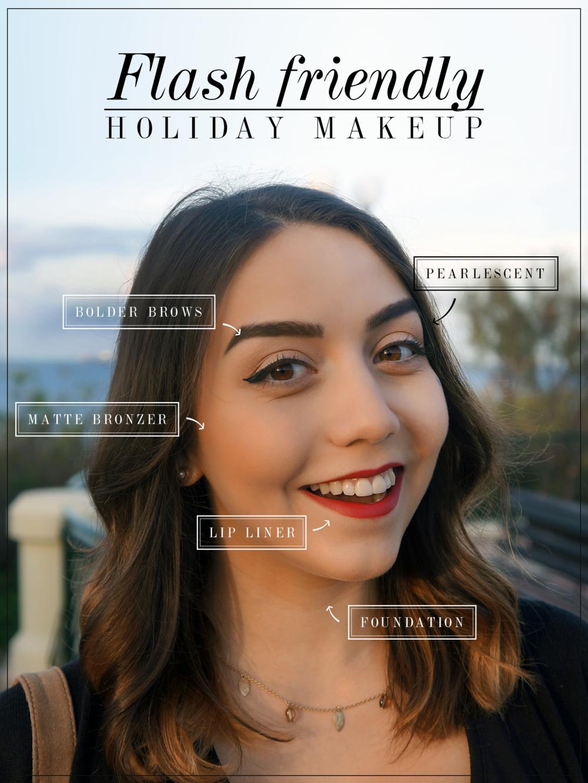 flash friendly holiday makeup