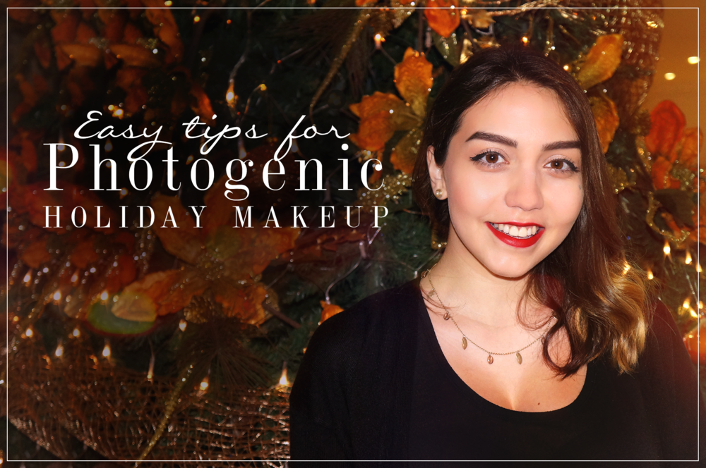 Photogenic holiday makeup
