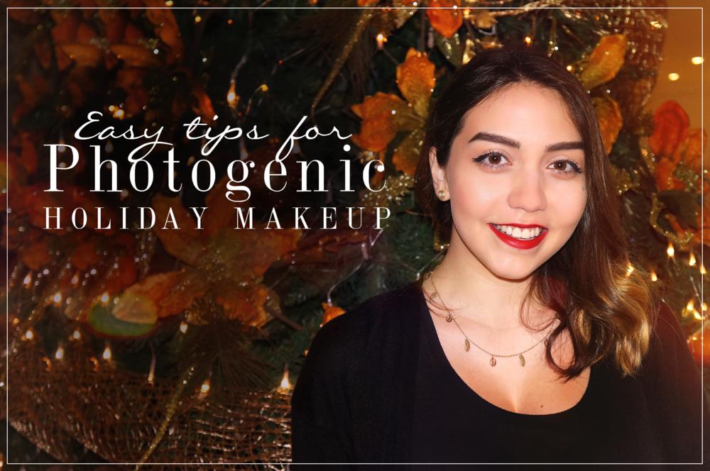 Photogenic holiday makeup