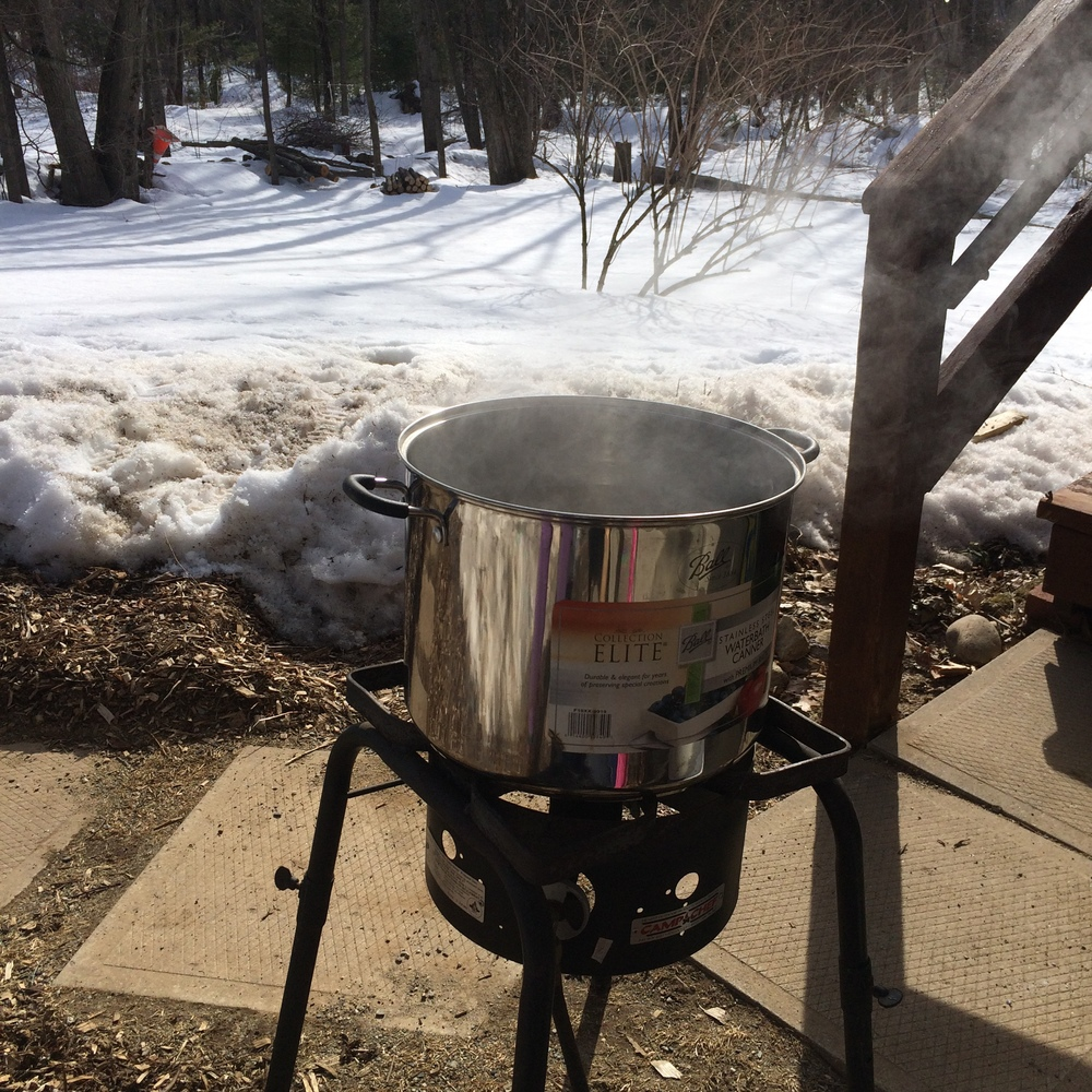 boiling on the propane tank