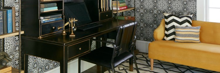 Home office boston interior design color consultation paint wallpaper hanging service