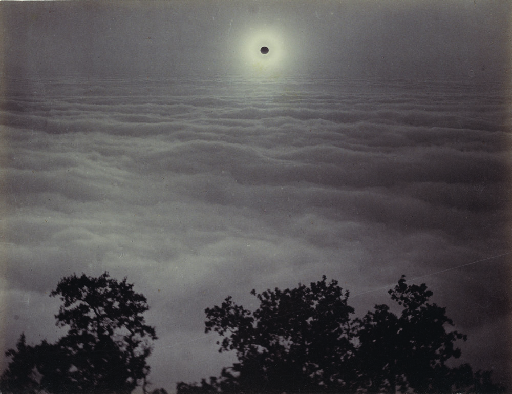 "Carleton Watkins. ""Solar Eclipse,"" (1889). Albumen silver print. 16.5 x 21.6 centimeters. Courtesy The J. Paul Getty Museum, Los Angeles"