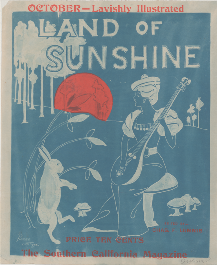 Land of Sunshine, The Southern California Magazine, (1890). Courtesy the Library of Congress.