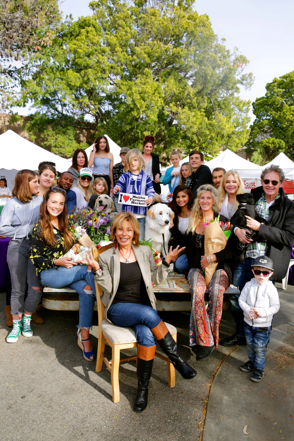Malibu Farmers Market founder Debra Bianco (front) is involved in numerous philanthropic efforts in the community.