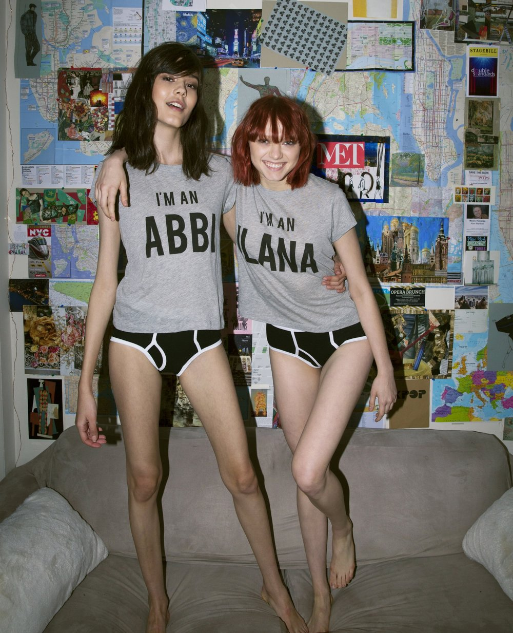 Left: I'm an Abbi No9 Tee, $66; Right: I'm an Ilana No9 Tee, $66