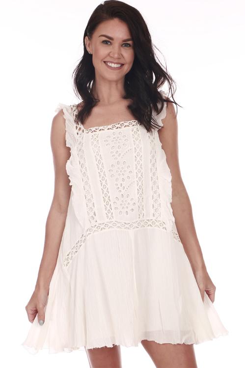 Free People Priscilla Mini Dress   $128.00