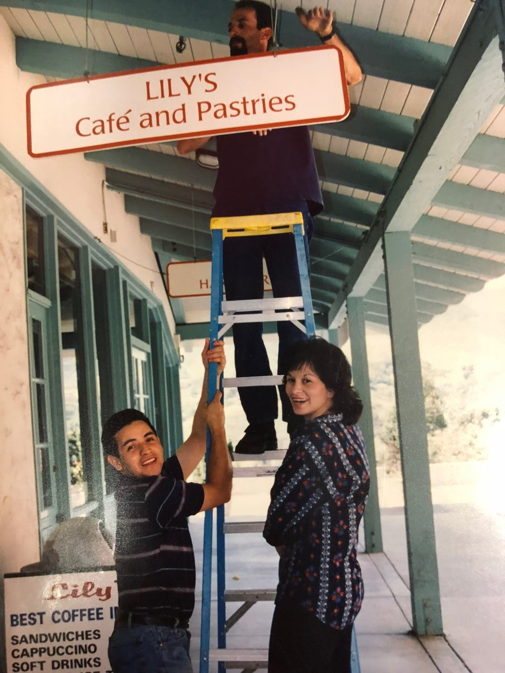 Lily and her husband, Abel, opening Lily's Cafe in 1989.
