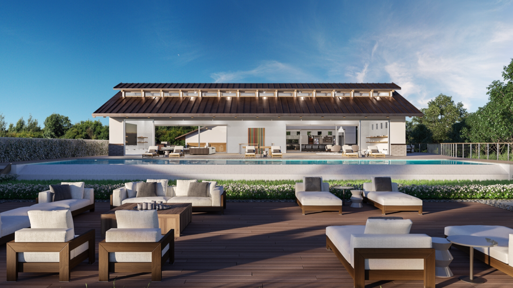 A second Paradise Cove home, rendering above, is also under construction.