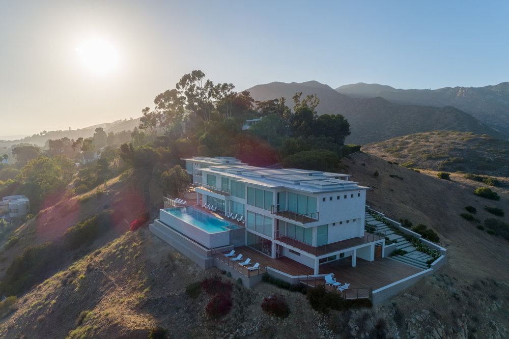 The New Castle sits on a stunning perch above downtown Malibu.
