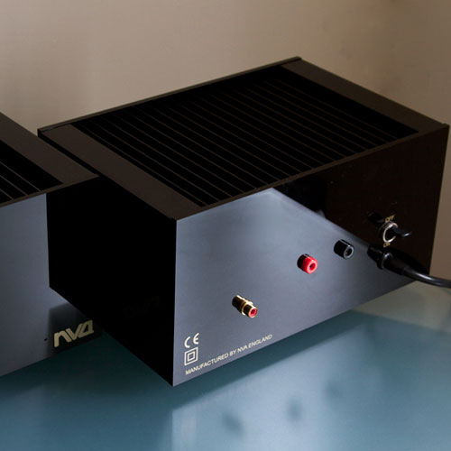 NVA A40 Monoblock Amplifiers - Rear