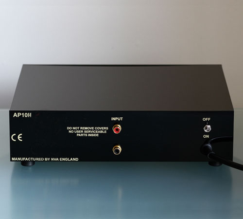 NVA AP10H Headphone Amplifier - Rear