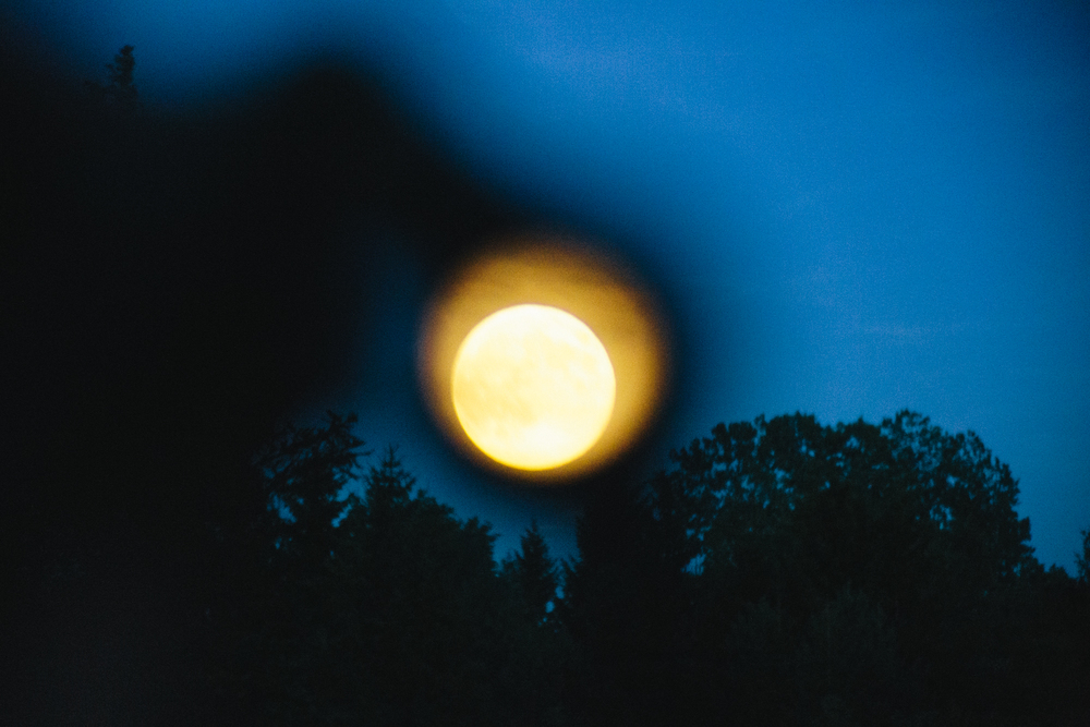Super Moon Through Binoculars