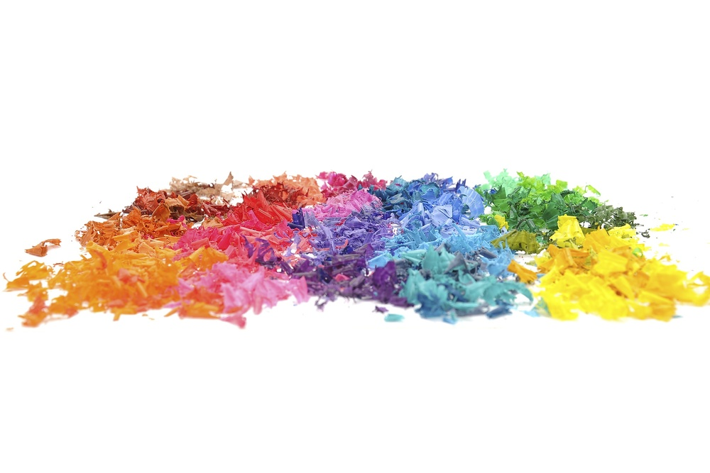 Rainbow of Crayon Shavings