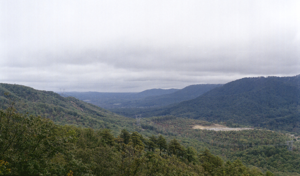 Hills from the side of Blue Ridge Parkway. Shot with Canon AE-1.