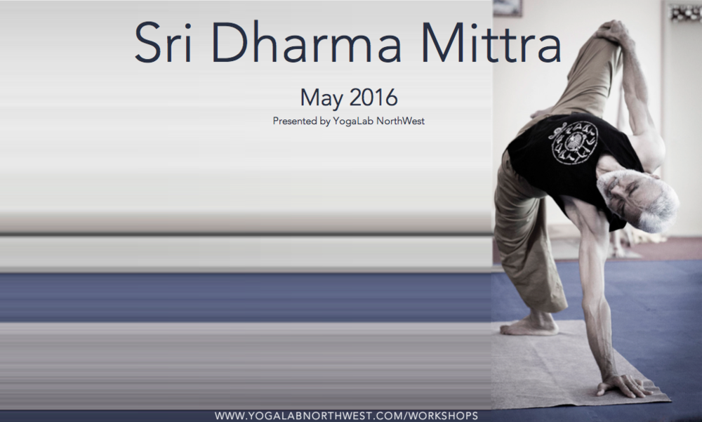 Sri Dharma Mittra is returning to the Emerald City -  Tickets On Sale 3/7/15