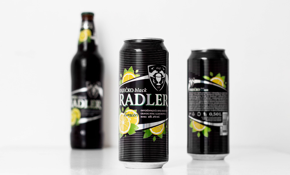 Black Radler Beer, 0.5l aluminium can