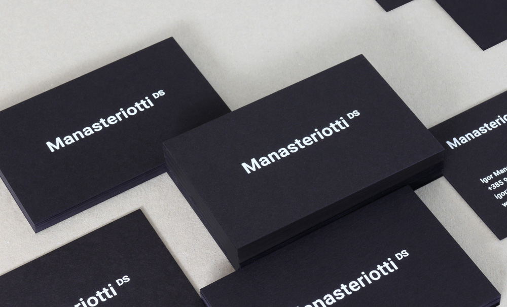 New business cards — Manasteriotti DS