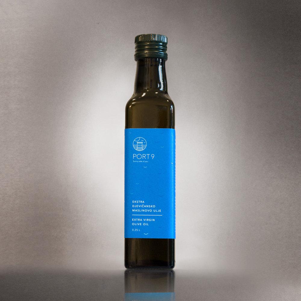 Port9 olive oil souvenir bottle