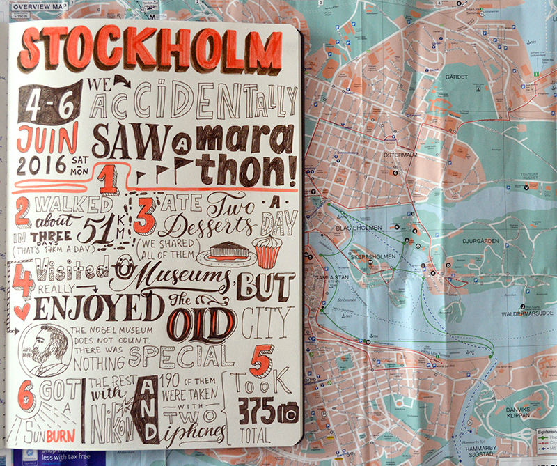 Stockholm | Lettering Page by Type and Graphics Lab