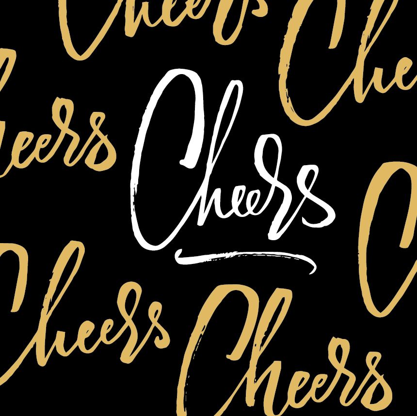 Cheers | 100 Days of Lettering by Type and Graphics Lab | typeandgraphicslab.com