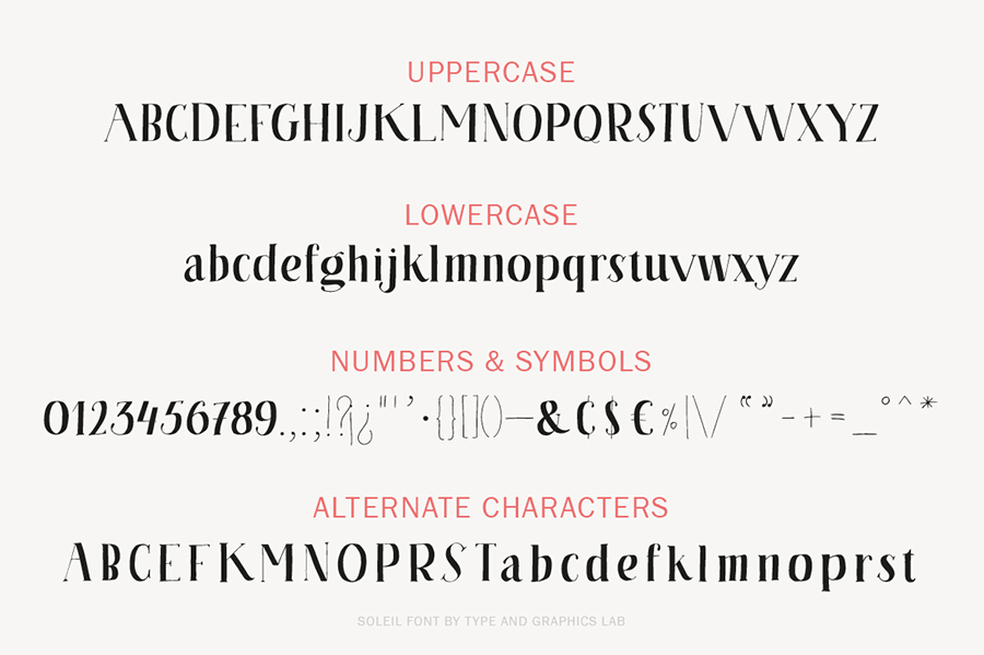 Soleil | A Serif Font by Type and Graphics Lab | typeandgraphicslab.com